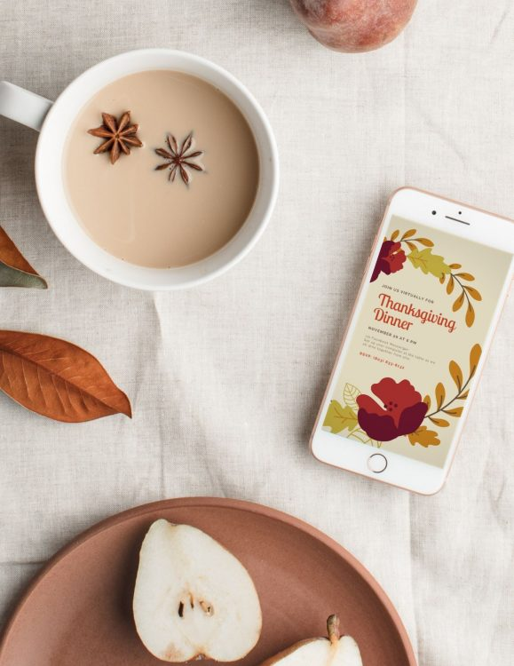 make virtual thanksgiving e-invitations