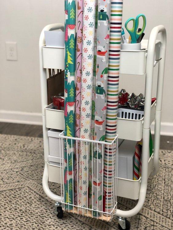 diy gift wrap cart