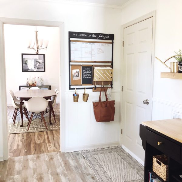 Lela Burris dining room and entryway command center