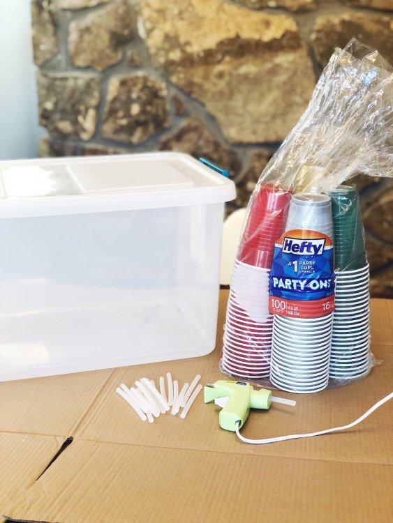 diy ornament organizer supplies