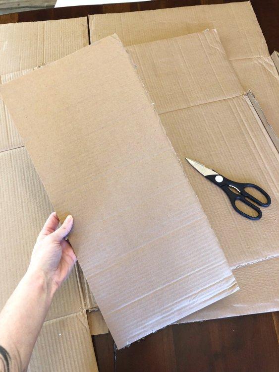 cardboard string light holder