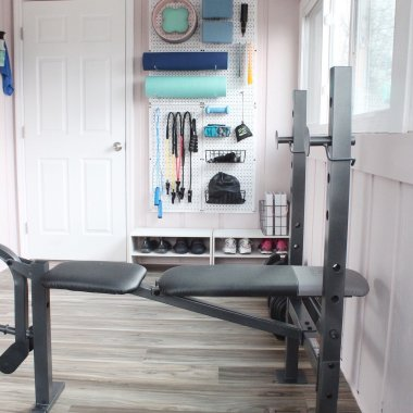 home gym makeover on a budget