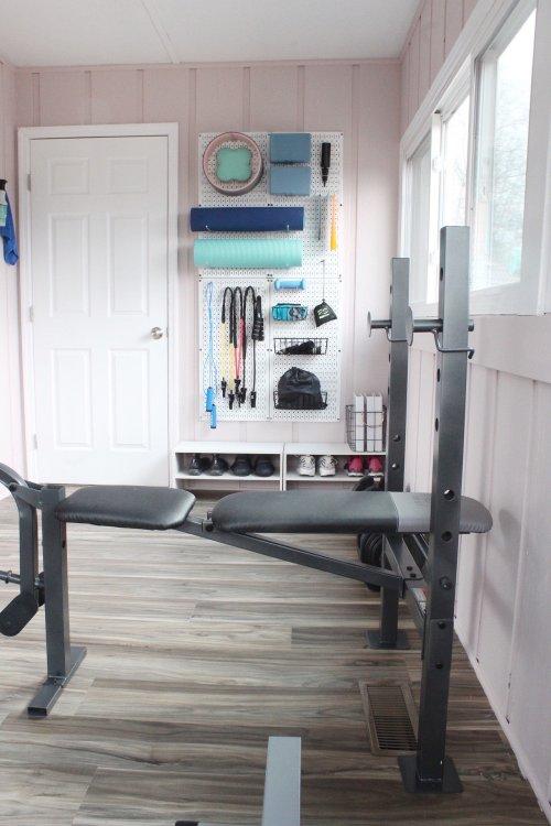 home gym makeover on a budget