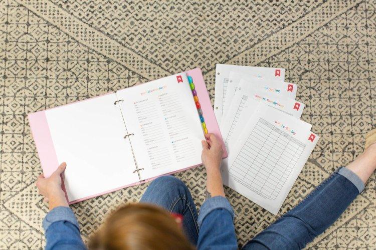 Organized-ish home management binder printable kits by Lela Burris