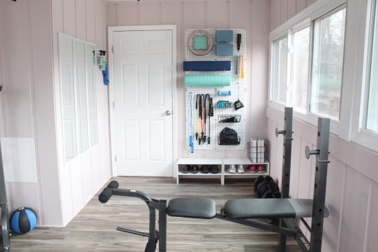 Lela Burris organized home gym