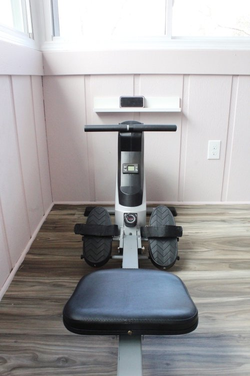home gym phone tablet shelf
