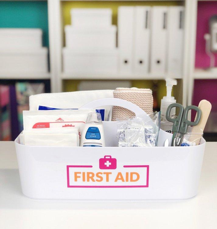 diy first aid kit caddy