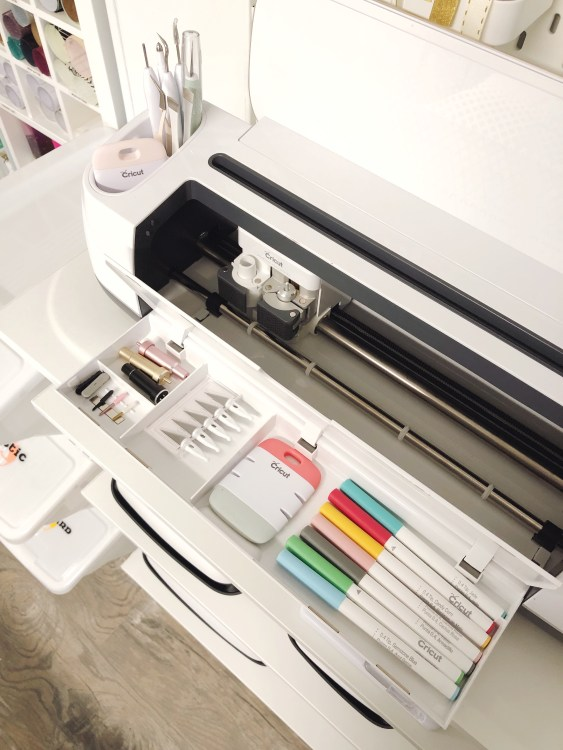 cricut maker storage ideas for paper crafting