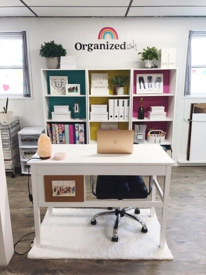 organized-ish office of Lela Burris