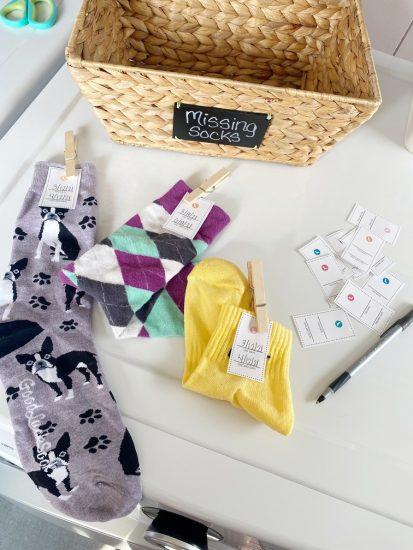 mateless sock printable tags