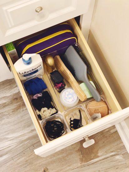 bathroom drawer organization on a budget