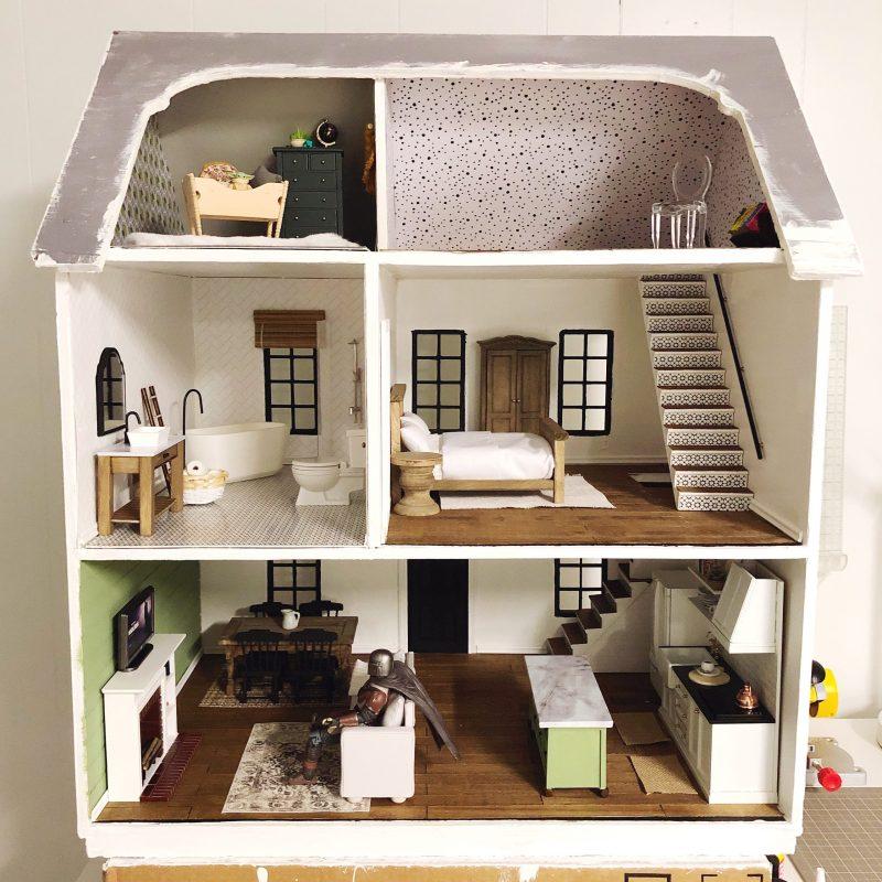 dollhouse remodel project from Lela Burris Organized-ish