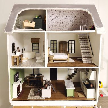 dollhouse remodel project from Lela Burris Organized-ish