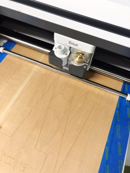 cricut maker cutting and engraving basswood