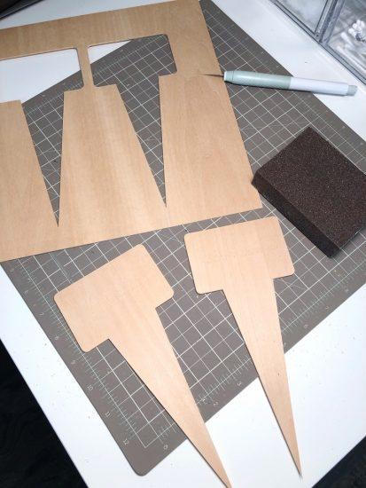 cut basswood with cricut maker