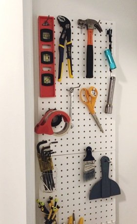 pegboard before makeover