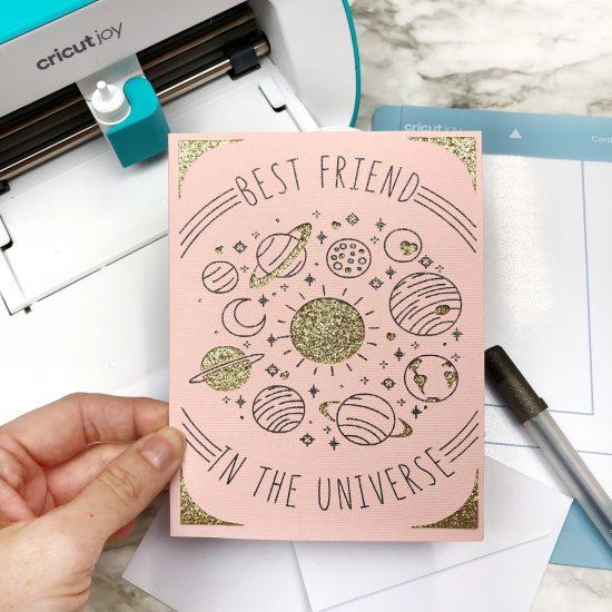 best friend card Cricut Joy