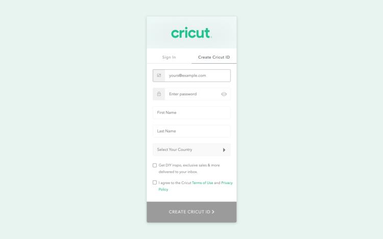 cricut design space setup