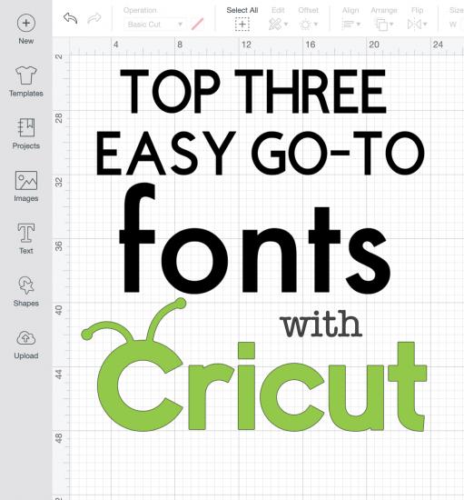 best cricut fonts for beginners