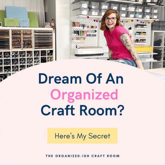 online craft room organization course