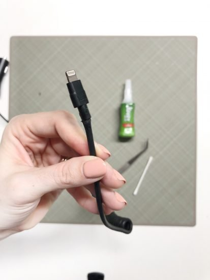 super glue hack for phone charger