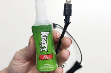 Krazy Glue fix phone charger