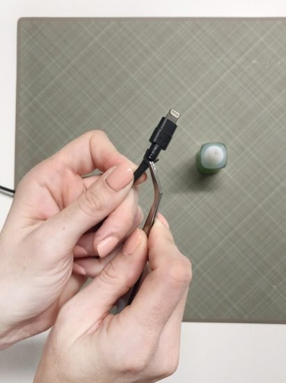 fix phone charger with super glue