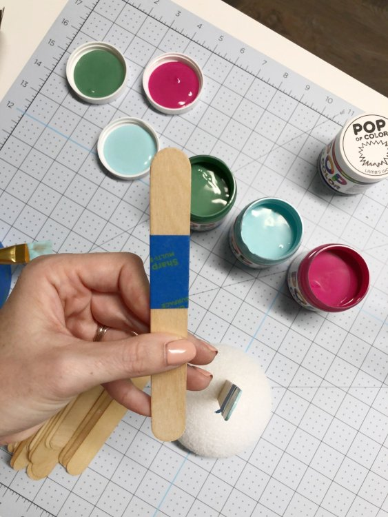 paint craft sticks