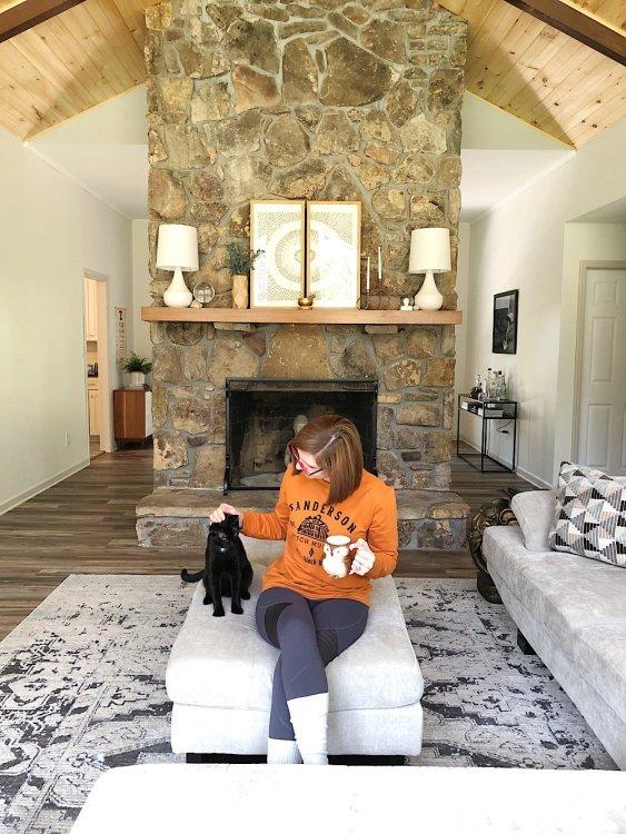lela burris cozy fireplace