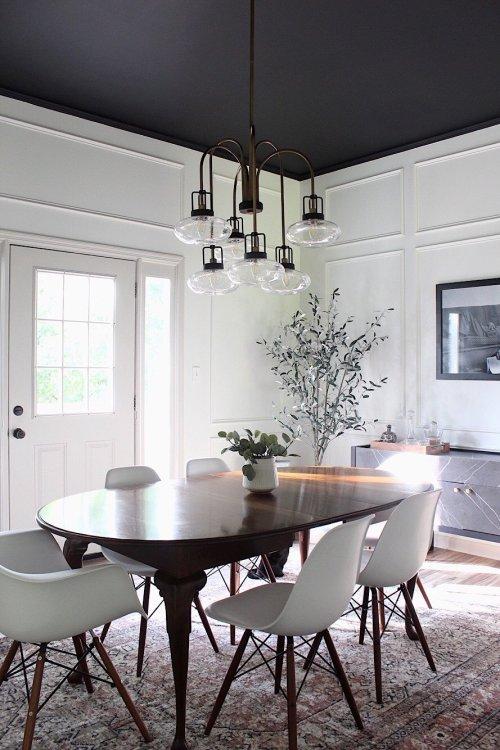 modern retro dining room