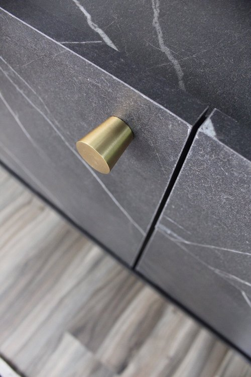 sideboard with brass knob
