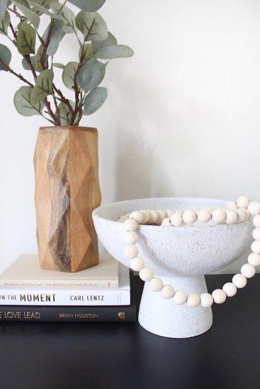 diy stone pedestal bowl