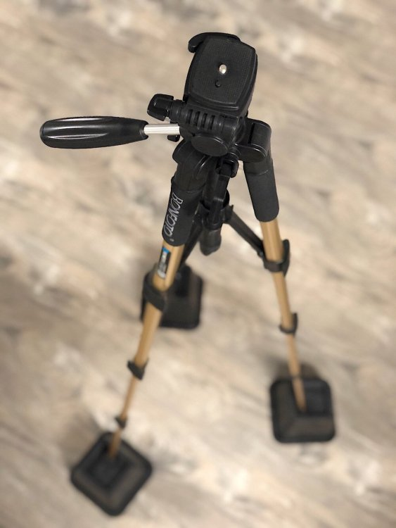 use bed risers to make tripod taller
