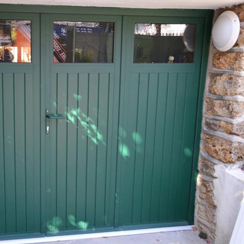 Maison Porte De Garage Sectionnelle Avec Porte Pvc 2 Vantaux