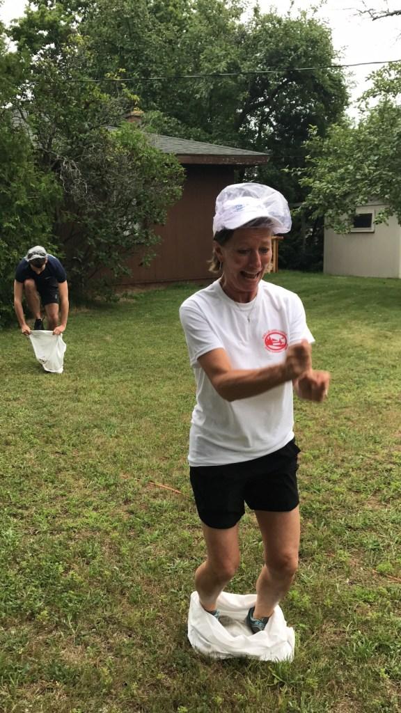 Leland Lodge Olympics | Sack Race Relay | Leland Michigan