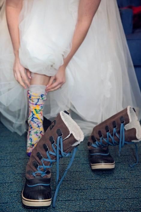 Leland Lodge | Fishtown Leland Hotel | Winter Wedding | Sorel Boots