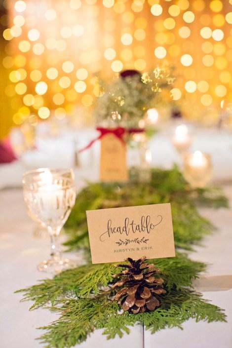 Leland Lodge | Fishtown Leland Hotel | Winter Wedding | Wedding Table Decor