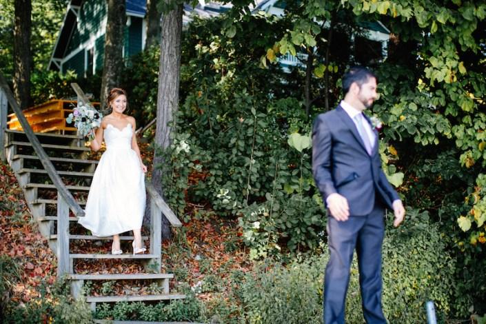 LL   Fishtown Leland Hotel   Fall Wedding   Bride & Groom   First Look