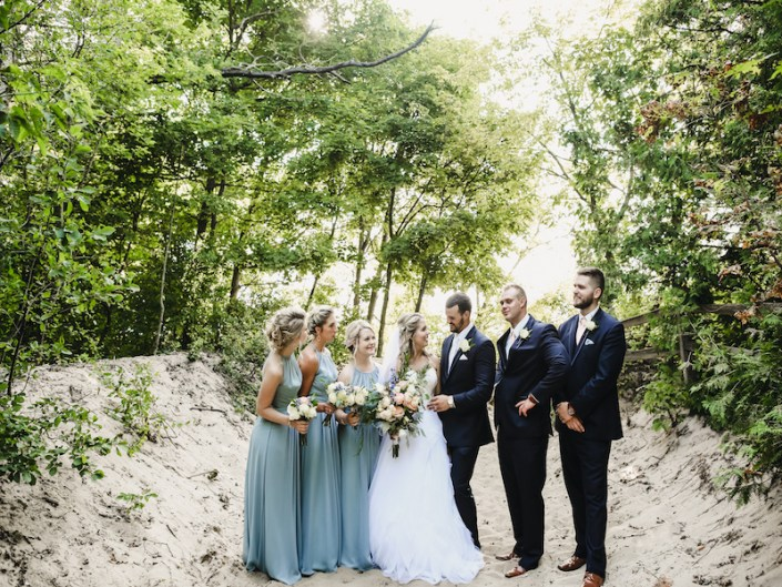 Leland Lodge | Fishtown Leland Hotel | Summer Wedding | Abby & Trent | Bride and Groom | Bridesmaids | Groomsmen | Wedding Party