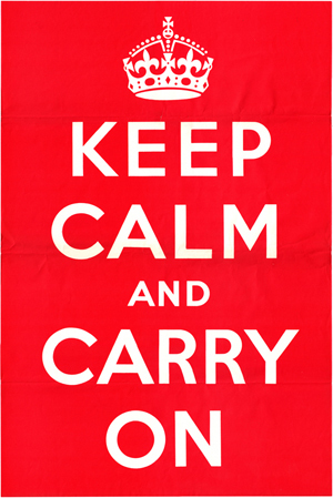 Keep Calm and Carry On from Wikimedia
