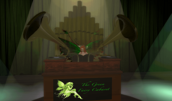 Second Life DJ Stand - The Green Fairy Caberet