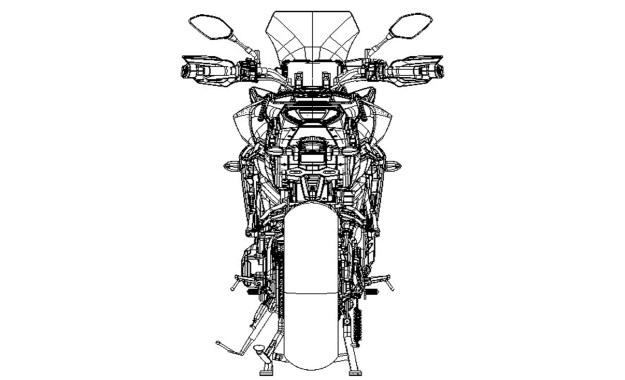 2015_MT09TR_Sport Touring_Line drawing, rear view