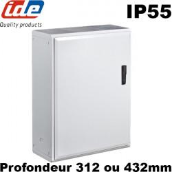 armoire polyester etanche ip55 ide grandes dimensions profondeur 312 ou 432mm