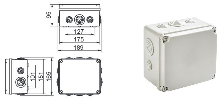 Boite De Drivation Tanche Extrieur IP65 6 Tailles