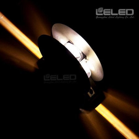 360° Blade Effect led wall lights with projector outdoor building windows