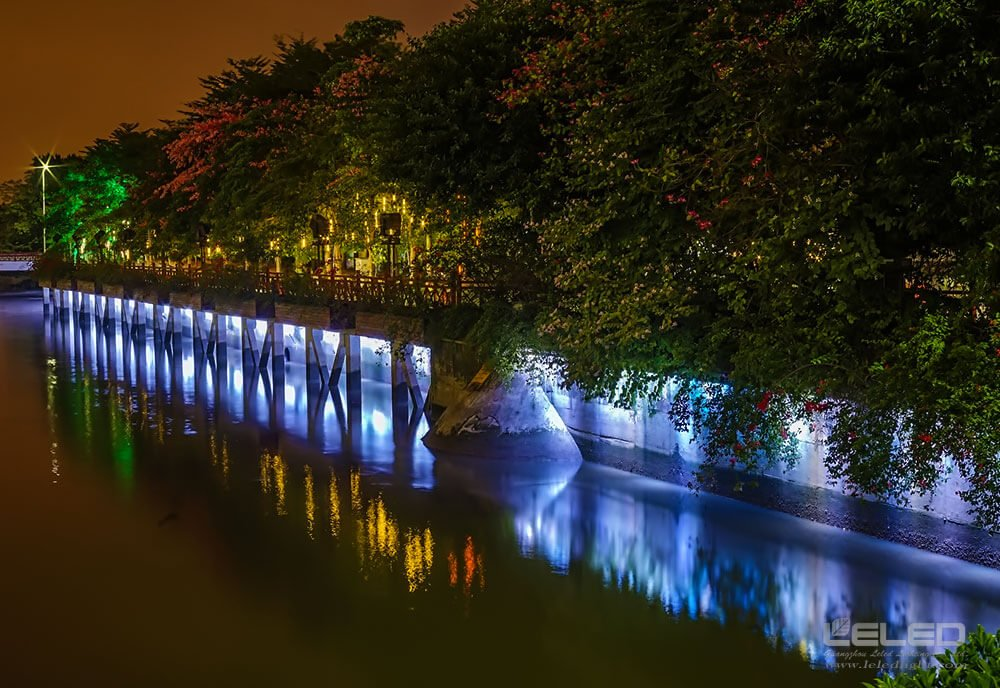 outdoor wall wash lighting landscape