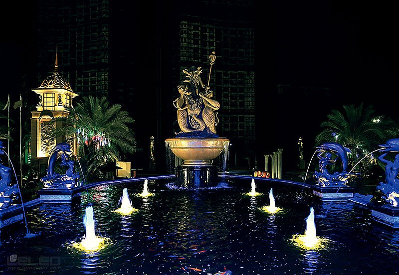 Pool lighting design idea for super LED high power projector underwater lights