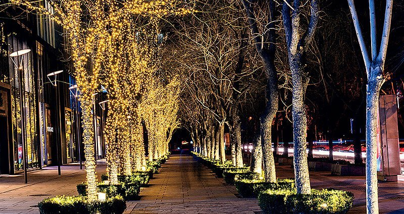 lighting projector tree design idea for super LED high power projector flood lights
