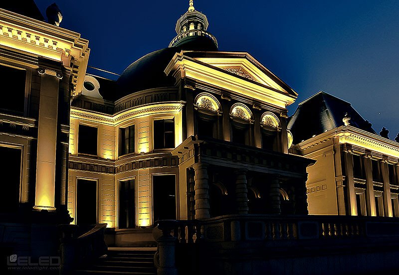 outdoor lighting building facade design idea for LED high power projector wall washer lights