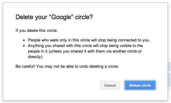 Einfach löschen - doppelte Kreise in Google+